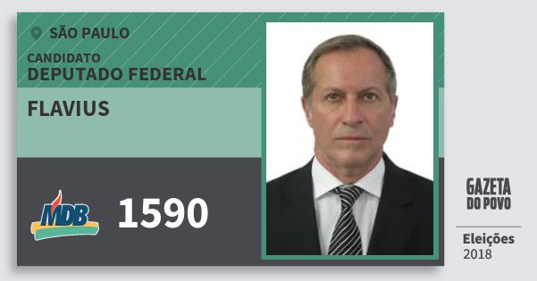 Santinho Flavius 1590 (MDB) Deputado Federal | São Paulo | Eleições 2018