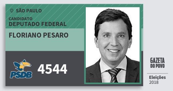 Santinho Floriano Pesaro 4544 (PSDB) Deputado Federal | São Paulo | Eleições 2018