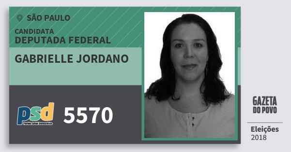 Santinho Gabrielle Jordano 5570 (PSD) Deputada Federal | São Paulo | Eleições 2018