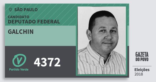 Santinho Galchin 4372 (PV) Deputado Federal | São Paulo | Eleições 2018