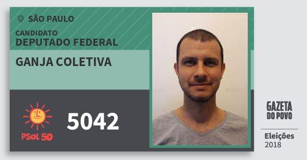 Santinho Ganja Coletiva 5042 (PSOL) Deputado Federal | São Paulo | Eleições 2018