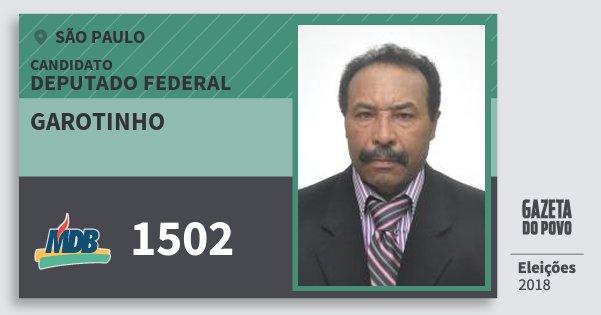 Santinho Garotinho 1502 (MDB) Deputado Federal | São Paulo | Eleições 2018