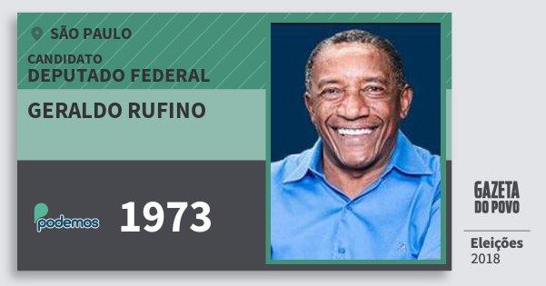 Santinho Geraldo Rufino 1973 (PODE) Deputado Federal | São Paulo | Eleições 2018