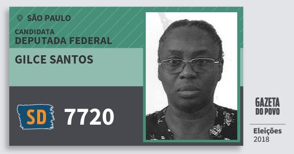 Santinho Gilce Santos 7720 (SOLIDARIEDADE) Deputada Federal | São Paulo | Eleições 2018
