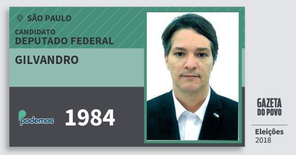 Santinho Gilvandro 1984 (PODE) Deputado Federal | São Paulo | Eleições 2018