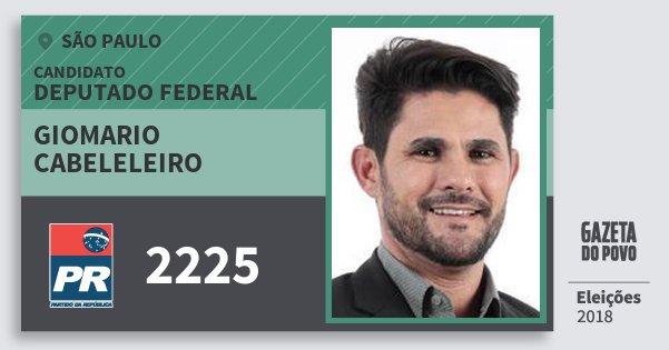 Santinho Giomario Cabeleleiro 2225 (PR) Deputado Federal | São Paulo | Eleições 2018