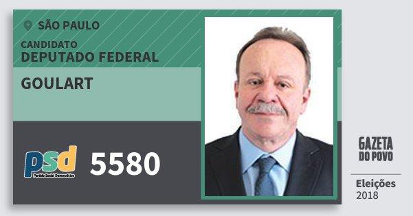 Santinho Goulart 5580 (PSD) Deputado Federal | São Paulo | Eleições 2018