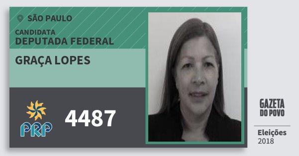 Santinho Graça Lopes 4487 (PRP) Deputada Federal | São Paulo | Eleições 2018