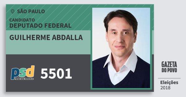 Santinho Guilherme Abdalla 5501 (PSD) Deputado Federal | São Paulo | Eleições 2018