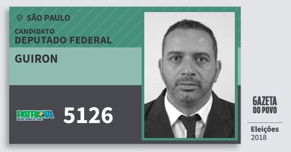 Santinho Guiron 5126 (PATRI) Deputado Federal | São Paulo | Eleições 2018