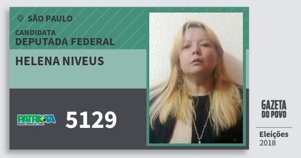 Santinho Helena Niveus 5129 (PATRI) Deputada Federal | São Paulo | Eleições 2018