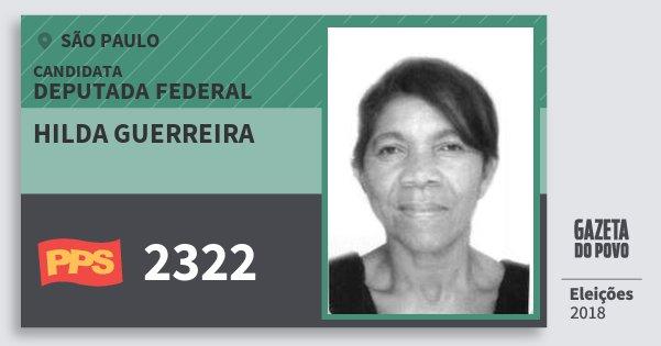 Santinho Hilda Guerreira 2322 (PPS) Deputada Federal | São Paulo | Eleições 2018