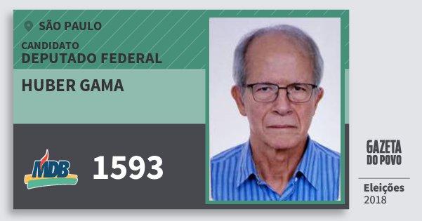 Santinho Huber Gama 1593 (MDB) Deputado Federal | São Paulo | Eleições 2018