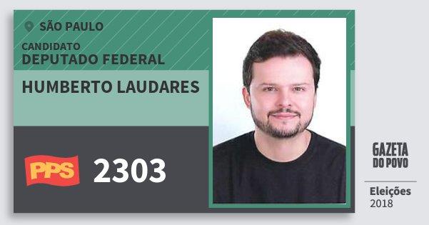 Santinho Humberto Laudares 2303 (PPS) Deputado Federal | São Paulo | Eleições 2018