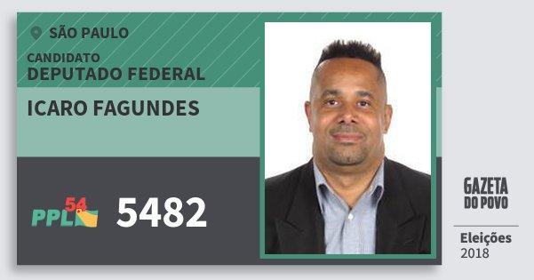 Santinho Icaro Fagundes 5482 (PPL) Deputado Federal | São Paulo | Eleições 2018