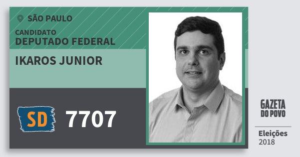 Santinho Ikaros Junior 7707 (SOLIDARIEDADE) Deputado Federal | São Paulo | Eleições 2018