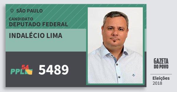 Santinho Indalécio Lima 5489 (PPL) Deputado Federal | São Paulo | Eleições 2018