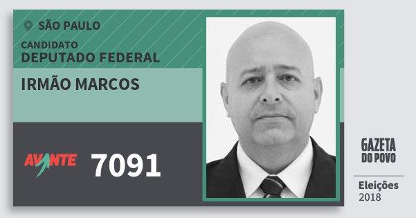 Santinho Irmão Marcos 7091 (AVANTE) Deputado Federal | São Paulo | Eleições 2018