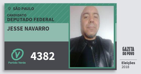 Santinho Jesse Navarro 4382 (PV) Deputado Federal | São Paulo | Eleições 2018