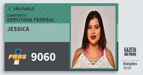 Santinho Jessica 9060 (PROS) Deputada Federal | São Paulo | Eleições 2018