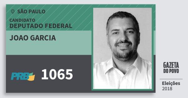 Santinho Joao Garcia 1065 (PRB) Deputado Federal | São Paulo | Eleições 2018