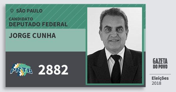 Santinho Jorge Cunha 2882 (PRTB) Deputado Federal | São Paulo | Eleições 2018