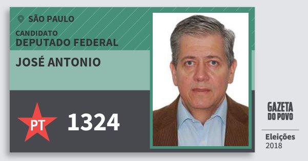 Santinho José Antonio 1324 (PT) Deputado Federal | São Paulo | Eleições 2018