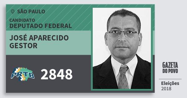 Santinho José Aparecido Gestor 2848 (PRTB) Deputado Federal | São Paulo | Eleições 2018