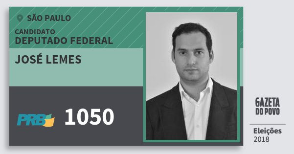 Santinho José Lemes 1050 (PRB) Deputado Federal | São Paulo | Eleições 2018