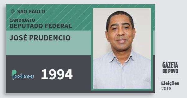 Santinho José Prudencio 1994 (PODE) Deputado Federal | São Paulo | Eleições 2018