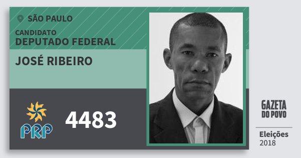 Santinho José Ribeiro 4483 (PRP) Deputado Federal | São Paulo | Eleições 2018