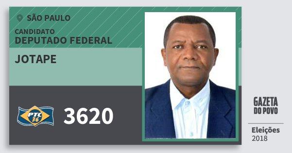 Santinho Jotape 3620 (PTC) Deputado Federal | São Paulo | Eleições 2018