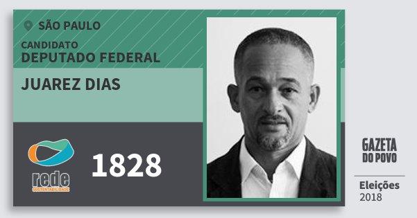 Santinho Juarez Dias 1828 (REDE) Deputado Federal | São Paulo | Eleições 2018