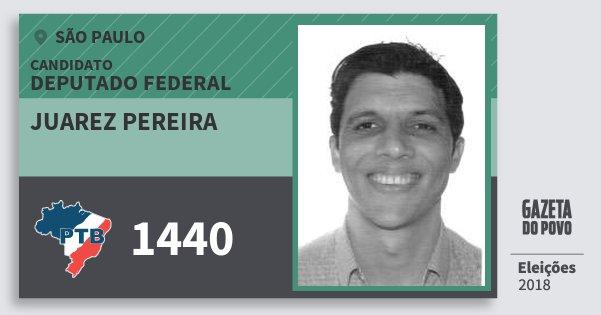 Santinho Juarez Pereira 1440 (PTB) Deputado Federal | São Paulo | Eleições 2018