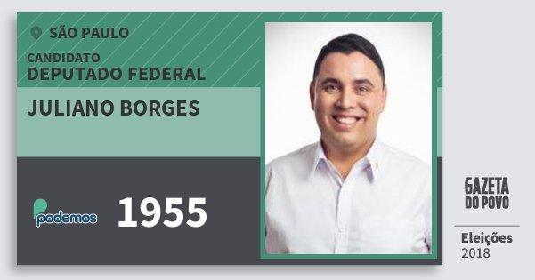 Santinho Juliano Borges 1955 (PODE) Deputado Federal | São Paulo | Eleições 2018