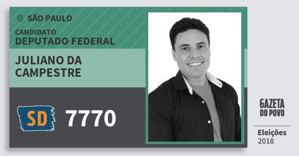 Santinho Juliano da Campestre 7770 (SOLIDARIEDADE) Deputado Federal | São Paulo | Eleições 2018