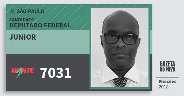 Santinho Junior 7031 (AVANTE) Deputado Federal | São Paulo | Eleições 2018