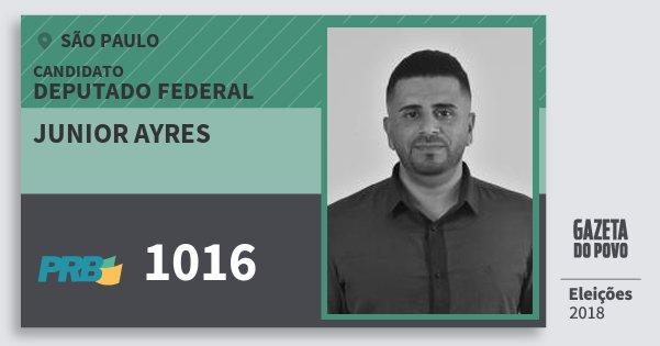 Santinho Junior Ayres 1016 (PRB) Deputado Federal | São Paulo | Eleições 2018