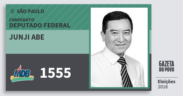 Santinho Junji Abe 1555 (MDB) Deputado Federal | São Paulo | Eleições 2018