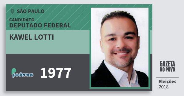 Santinho Kawel Lotti 1977 (PODE) Deputado Federal | São Paulo | Eleições 2018