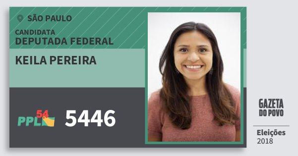 Santinho Keila Pereira 5446 (PPL) Deputada Federal | São Paulo | Eleições 2018