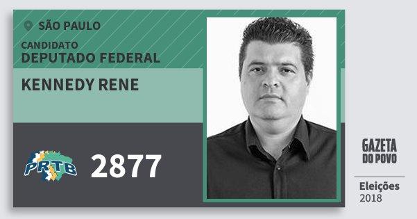 Santinho Kennedy Rene 2877 (PRTB) Deputado Federal | São Paulo | Eleições 2018