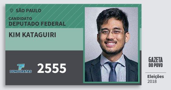 Santinho Kim Kataguiri 2555 (DEM) Deputado Federal | São Paulo | Eleições 2018