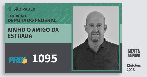 Santinho Kinho O Amigo da Estrada 1095 (PRB) Deputado Federal | São Paulo | Eleições 2018
