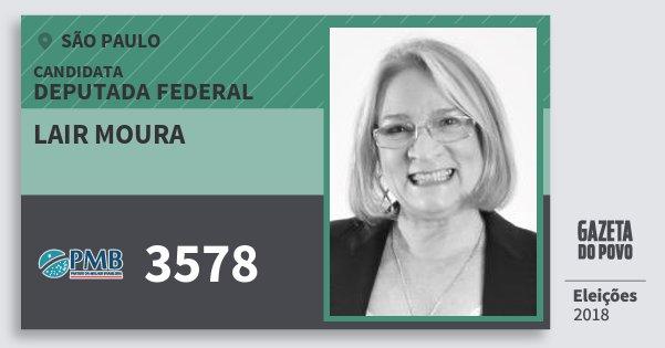 Santinho Lair Moura 3578 (PMB) Deputada Federal | São Paulo | Eleições 2018