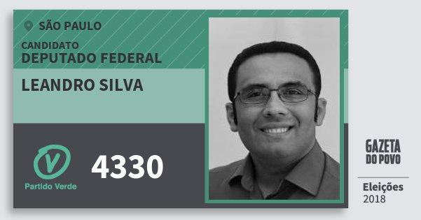 Santinho Leandro Silva 4330 (PV) Deputado Federal | São Paulo | Eleições 2018