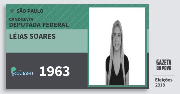 Santinho Léias Soares 1963 (PODE) Deputada Federal | São Paulo | Eleições 2018