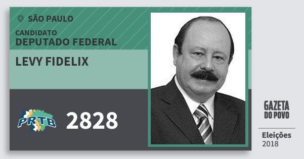 Santinho Levy Fidelix 2828 (PRTB) Deputado Federal | São Paulo | Eleições 2018