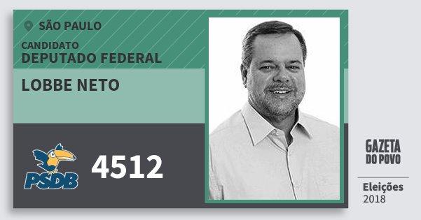 Santinho Lobbe Neto 4512 (PSDB) Deputado Federal | São Paulo | Eleições 2018
