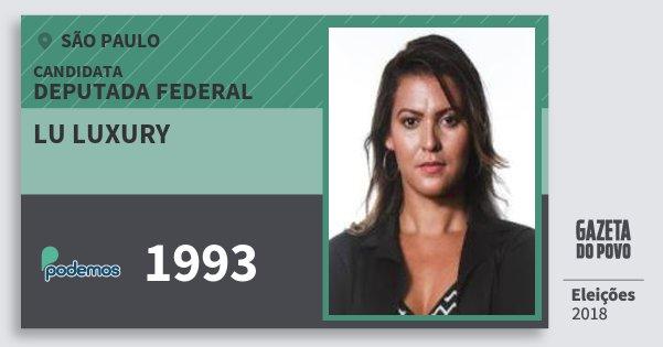 Santinho Lu Luxury 1993 (PODE) Deputada Federal | São Paulo | Eleições 2018